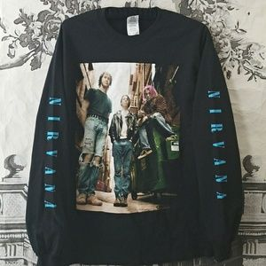 Urban Outfitters Nirvana Long Sleeve Tee